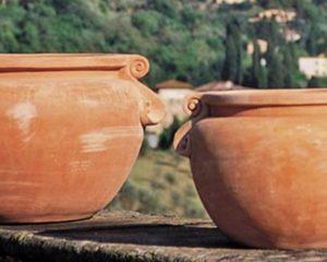 Terracotta Pflanzgefäße aus Impruneta